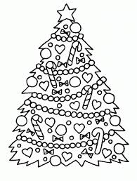 free printable christmas tree coloring pages for kids intended for