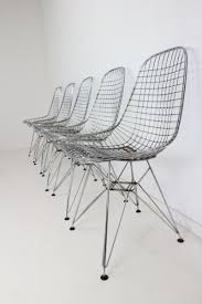 dkr eiffel base wire chairs by charles u0026 ray eames for vitra set