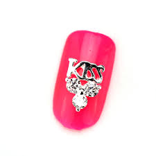 30pcs lot rg073 lovely kiss style nail art decoration zircon nail