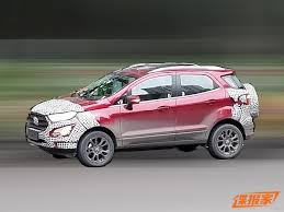 2017 ford ecosport spied nearly undisguised in brazil update