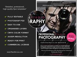 free photography flyer templates