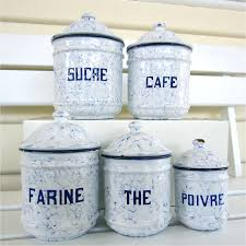set french enamel canisters sold my french finds