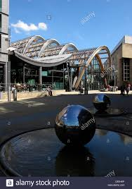 sculptures outside sheffield winter gardens south yorkshire