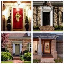Front Door Arbor by Dressing Up The Front Door With Exterior Moulding Or An Arbor