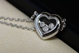 diamond box necklace images Chopard happy diamonds heart necklace 18 kt white gold 0 17 ct jpg