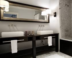 fine double sink bathroom mirror ideas designs and design