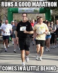 Running Marathon Meme - jared runs a marathon
