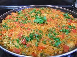 vegan fideua noodle paella from spain