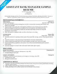 Manager Sample Resume Resume Samples For Banking U2013 Topshoppingnetwork Com