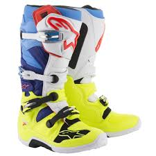 motocross boots alpinestars alpinestars 2018 tech 7 boots yellow white blue cyan available at