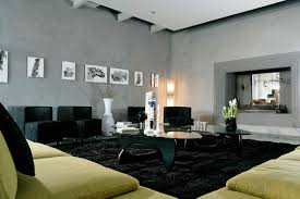Black And White Modern Rug by Interior Black White Hairy Modern Area Rugs For Living Room With