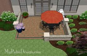 How To Make Paver Patio Diy Paver Patio Design With Seat Wall Downloadable Plan