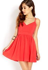 fit and flare dress forever 21 forever 21 strappy fit flare dress in lyst
