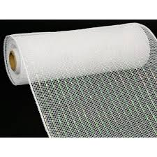 10 poly deco mesh iridescent white re1301f1 craftoutlet