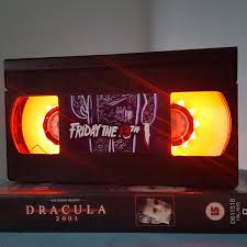 Thriller Halloween Lights by Retro Vhs Friday 13th Night Light Table Lamp Thriller Horror