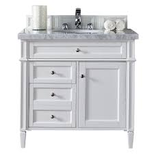 Black Bathroom Vanity With White Marble Top by James Martin Signature Vanities Brookfield 26 In W Single Vanity