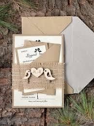 burlap wedding invitations custom listing 20 rustic wedding invitation birds invitation