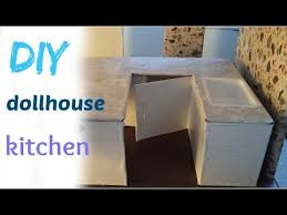Dollhouse Kitchen Furniture by Diy Craft Barbie Dollhouse Kitchen Youtube