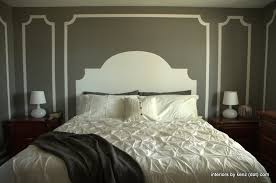 Design For Headboard Shapes Ideas How To Paint A Headboard On The Wall Moldings Walls And Bedrooms