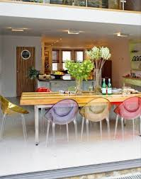 Perspex Dining Chairs 12 Best Clear And Coloured Acrylic Chairs Images On Pinterest