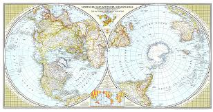 northern map northern and southern hemispheres map