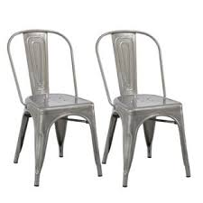 Distressed Bistro Chair Btexpert Industrial Vintage Stackable Tabouret Clear Brush Metal