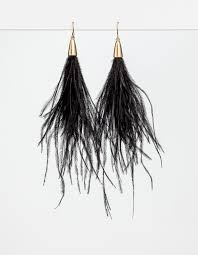 feather earrings nz black feather earrings stella gemma