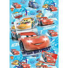 cars wrapping paper disney cars wrapping paper birthday card and gift tags pack the