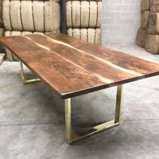 walnut dining table base dining room cross base table west elm inside brass mastercraft