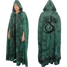 celtic ritual robes black grey celtic pentacle cotton hooded cloak cape or ritual