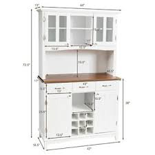 kitchen storage cabinets with doors and shelves costway buffet and hutch kitchen storage cabinet cupboard w