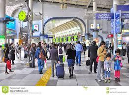 Shinagawa Station Map Crowd At Shinagawa Train Station Tokyo Editorial Photo Image