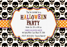 spooky skulls halloween party invitation printable just click