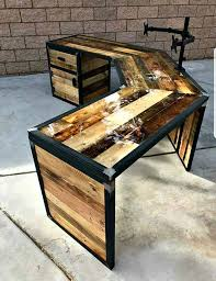 set de bureau personnalisé custom industrial desk industrial style desk clear epoxy resin