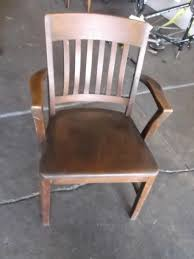 Antique Captains Chair Wood Mission Style Captains Chair