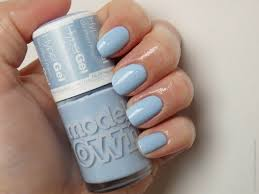 review models own hyper gel nail polish powder blue adjusting