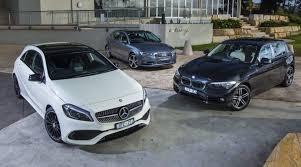 a3 mercedes small luxury car comparison audi a3 sportback v bmw 1 series v