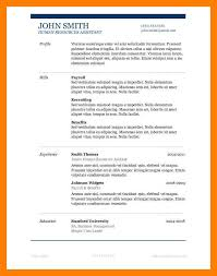 Classy Resume Templates 7 Resume Templates Ms Word Self Introduce