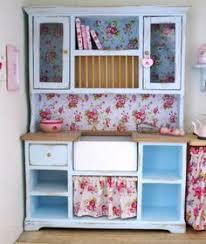 Pink Shabby Chic Dresser by Dollhouse 1 12 Scale Shabby Chic Kitchen Hutch Via Etsy