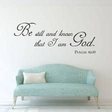 scripture wall decal christian wall art be still and know