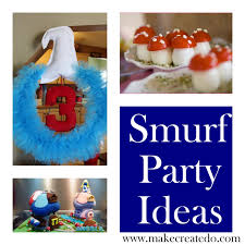 smurfs party ideas and inspiration lots and lots smurf party