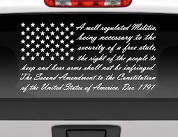 Custom Car Flag Second Amendment American Flag Vinyl Window Decal For Cars