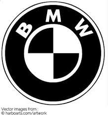 black and white bmw logo bmw logo vector graphic