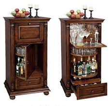 Folding Home Bar Cabinet Furniture Portable Black Home Bar Cabinet With Wine Storage And