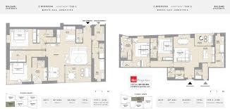floor plans bulgari residences jumeirah bay island by meraas