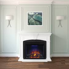 taylor electric fireplace mantel package in white nefp33 0214w