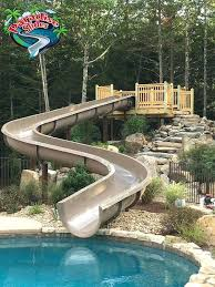 Water Slides Backyard by Water Slide Rustic Pool Water Slides For Backyard Pools