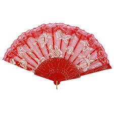 decorative fans style lace silk plastic printed folding fans