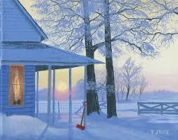 winter pretty winter scene il porch fields country lights shovel