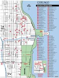 chicago tourist map map of chicago attractions tripomatic com places to visit